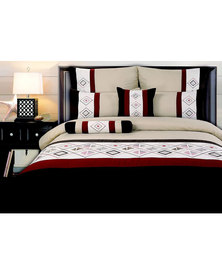 Dreyer Linen Embroidered  Denise  Duvet Cover Set