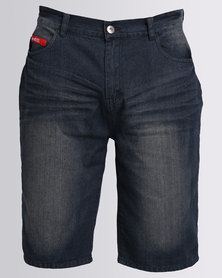 ECKÓ Unltd Denim Short With Turn Up Dark Rise