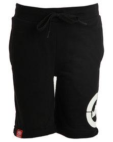 ECKÓ Unltd Fleece Shorts Black