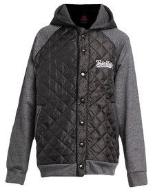 ECKÓ Unltd Hooded Baseball Jacket Grey