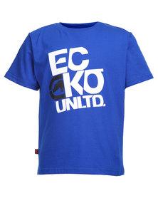 ECKÓ Unltd Printed Tee Blue