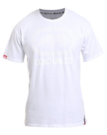 ECKÓ Unltd Basic Short Sleeve Rhino Centre T-Shirt White