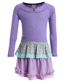 Eco-Punk Fairy Dress Purple