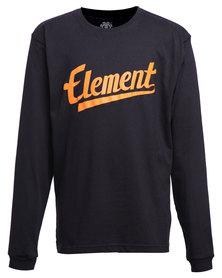 Element Script Organic LS Tee Black