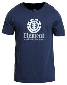 Element Vertical Short Sleeve Tee Blue