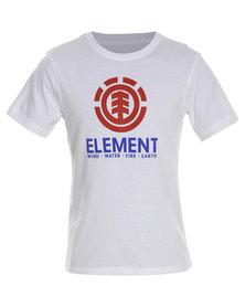 Element Vertical Organic Short Sleeve Tee White