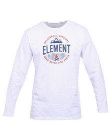 Element Survival LS Tee White