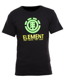 Element Vertical Organic Short Sleeve Tee Black