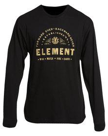 Element Forward Long Sleeve Tee Black