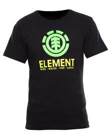 Element Vertical Organic Short Sleeve Tee Black