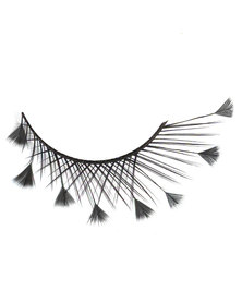 Elise Eyelashes 26 Creative Feather Black