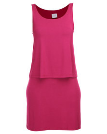 EMPTY Jess Casual Dress Plum