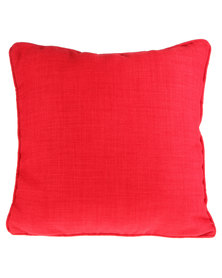 Fabricor Plain Woven Cushion Red