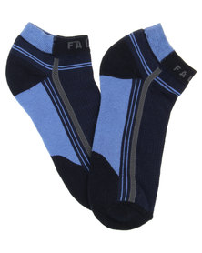 Falke Stripe Colour Block Ankle Socks Blue