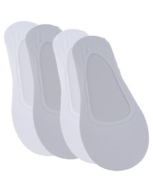 Falke 2 Pack Anti-Slip Invisible Socks White