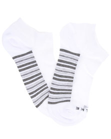 Falke Rib Half Stripe Socks White