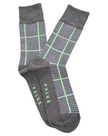 Falke Check Design Socks Grey