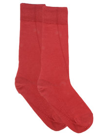 Falke Pure Natural Cotton Socks Red