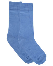 Falke Pure Natural Cotton Socks Blue