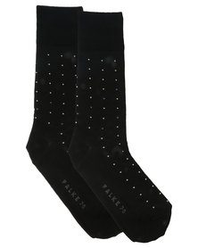 Falke Diamand Dot Socks Black