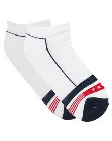 Falke Striped Cushioned Hidden Socks White
