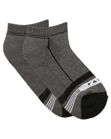 Falk Striped Cushioned Hidden Socks Charcoal