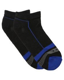 Falke Stripe Hidden Cotton Cushioned Socks Black