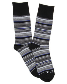 Falke Bold Stripe Socks Black