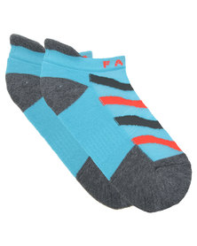 Falke Ladies Gym Zebra Training Socks Blue