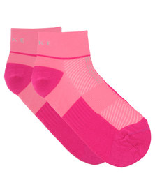 Falke Performance Two Tone Runner Socks Pink