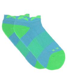 Falke Performance Butterfly Tennis Sock Blue/Green