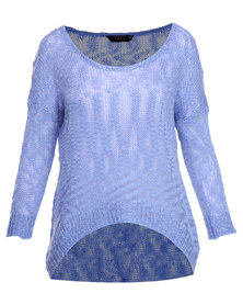 Fate Florencia Knit Jersey Blue