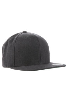 Flex Fit Classic Snapback Cap Dark Heather Grey