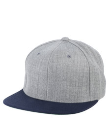 Flex fit Contrast Peak Classic Snapback Cap Navy/Heather Grey