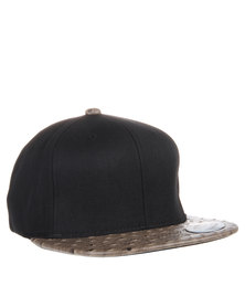 Flex Fit Snapback Cap Black & Ostrich