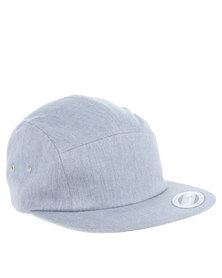 Flex Fit 5 Panel Jockey Cap Grey