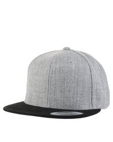 Flex fit Contrast Peak Classic Snapback Cap Grey