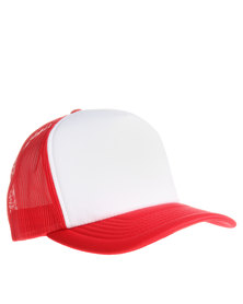Flex Fit V Z Trucker Cap Red
