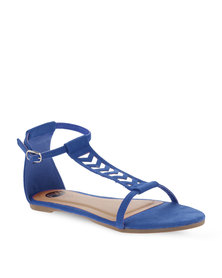 Footwork T-Bar Flat Sandals Blue