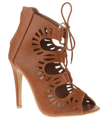 Footwork Lace Up Gladiator Shoes Brown