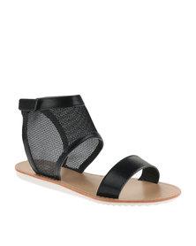 Footwork Mesh Sandals Black