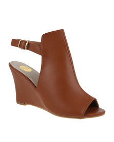 Footwork Montana Slingback Wedge Shoe Tan