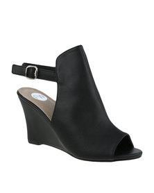 Footwork Montana Slingback Wedge Shoe Black
