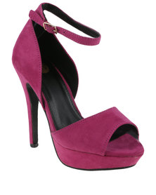 Footwork Oslo High Heel With Ankle Strap Purple