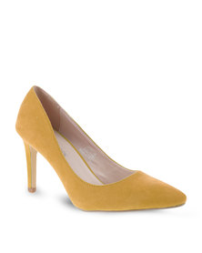 Footwork Pointed High Heels Yellow