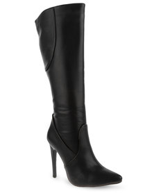 Footwork Knee-High Boots Black