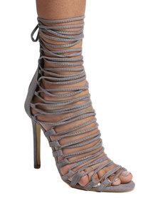 Footwork Princess Ncabile Caged High Heel Grey