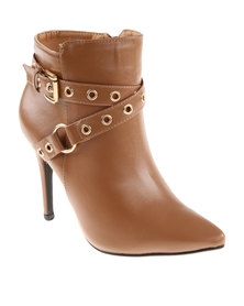 Footwork Giselle Ankle Boots Tan