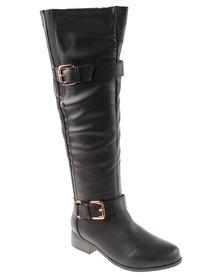 Footwork Leighton Thigh High Boot Black