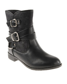 Footwork Cara Ankle Boots Black